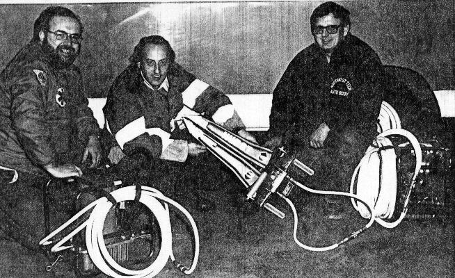 1977 - Hurst Tools  'The Jaws of Life' Pictured - Joe O'Hare, Salesman Ron Ehman, & Roger Michael