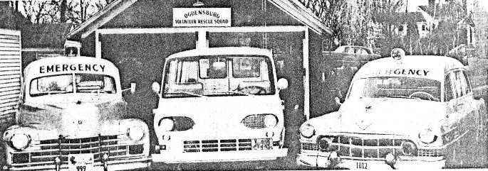1964 Ambulances and Crash Truck Jay Street Garage Behind the VFW